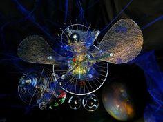 Brigitte de Lerber :SATELLITE SYSTEME exposition les couleurs de l'espace cité…