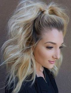 Retro half up ponytail
