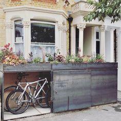 Garden Bike Storage, Shed Storage, Urban Garden Design, Bike Shed, Victorian Terrace, Front Porch, Beautiful Gardens, Bespoke, Architecture Design