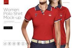 Women Polo Shirt Mock-up by mesmeriseme.pro on Creative Market