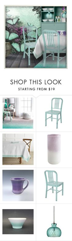 """""""Contest ~Ombre"""" by tiffanysblues ❤ liked on Polyvore featuring interior, interiors, interior design, home, home decor, interior decorating, nuLOOM, Mr Perswall, Williams-Sonoma and Pfaltzgraff"""