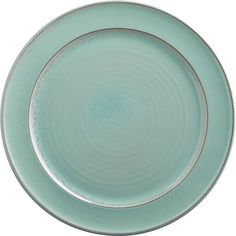 CB2 React Aqua Dinner Plate (€8,23) ❤ liked on Polyvore featuring home, kitchen & dining, dinnerware, dishes, plates, decor, food, reactive glaze dinnerware, oven safe dinnerware and aqua dinner plates