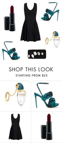 """""""Sarcelle"""" by parrota ❤ liked on Polyvore featuring Alexis Bittar, Marco de Vincenzo, MAC Cosmetics and STELLA McCARTNEY"""
