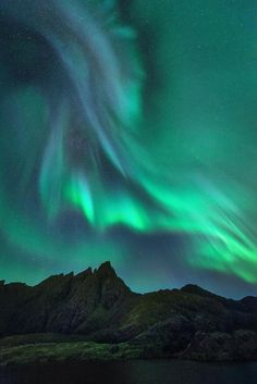 "Aurora ""corona"" over jagged peaks near Leknes Norway landscape Nature Photos Lofoten, Northen Lights, Beautiful Sky, Landscape Photography, Night Photography, Landscape Photos, Amazing Nature, Belle Photo, Night Skies"