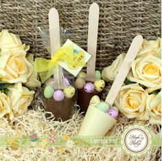 Easter Mini Egg Hot Chocolate Spoon - click to enlarge