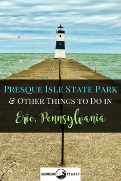 Even when on a tight schedule don't miss Presque Isle State Park Escape Game Sara's Diner and other fun things to do in Erie Pennsylvania. Places To Travel, Places To See, Travel Destinations, Travel Stuff, Presque Isle State Park, Presque Isle Michigan, Erie Pennsylvania, Gettysburg Pennsylvania, Pennsylvania Railroad