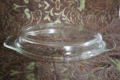 "Vintage Pyrex Oval Lid 9"" x 7""/Anchor Hocking Oval Lid/Hocking Baking Dish…"