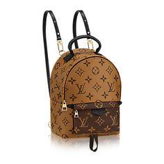 Palm Springs Backpack Mini (42.631.170 VND) ❤ liked on Polyvore featuring bags, backpacks, crossbody bags, mini backpacks, reversible backpack, mini rucksack and monogrammed backpacks