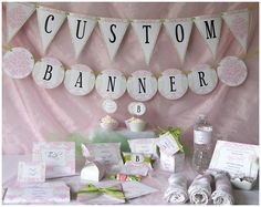 Pink Damask Baby Shower  - Baby Girl Pink and Green  - Party Printables - Complete Set w. BONUS GAMES - DIY Party Supplies and Decorations