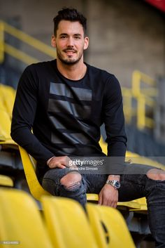 Photo session with goalkeeper Roman Buerki of Borussia Dortmund on FEBRUARY 2, 2017 in Dortmund, Germany.