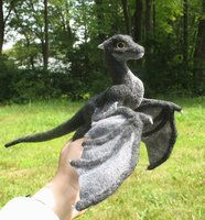 Needle felted Black Dragon by ~tallydragon on deviantART