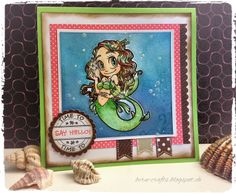 card, summer, mermaid