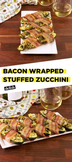 Bacon Wrapped Stuffed Zucchini Delish