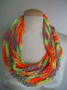 SALE  bright and funky chain loop infinity by LittleDillyDesigns