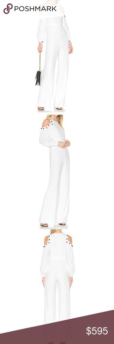 Alexis Open Shoulder White Jumpsuit Day to night Jumpsuit Alexis  Pants Jumpsuits & Rompers