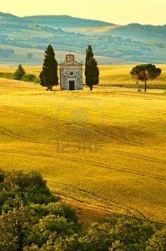 Vitaleta Chapelle, Toscane