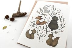 Woodland Critters - 10 Greeting Cards