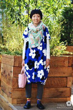 Big Colorful Prints for Mature Women: dress by Sou Sou