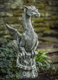 Dragon Gardening Decor | Abraxas Dragon Garden Statue-Great Garden Dragon Statue