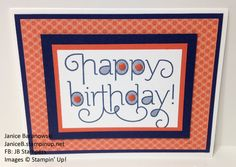 Cards-to-go-Birthday#2 -I wanted to create a Birthday cards-to-go kit for people who couldn't attend my card classes. This is the 2nd of 5 for that set. - #JBStampers