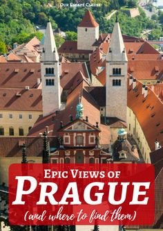 Check out the best viewpoints to get amazing views of Prague! This gorgeous city deserves to be admired from every angle. #prague #czechrepublic #praguecastle