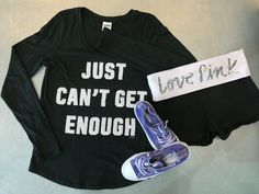 Just can't get enough… amazing deals? Come into #PlatosClosetBrampton & get all your fave brands like #PINK, #VS & #Converse for less! #shopaholic #athleisure #trendsetters // PINK top, SM, $14 // shorts, M, $12 // Converse, size 5, $15 // | www.platosclosetbrampton.com