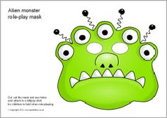 Alien monster role-play masks (SB8942) - SparkleBox