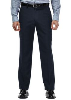 Haggar Navy Travel Performance Classic Fit Tic Weave Suit Pants