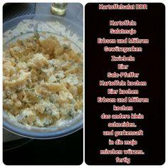 Mein selbst erfundene Kartoffelsalat geht auch mit Nudeln
