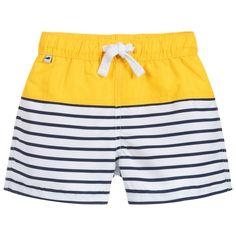 Boys Pants, Kids Shorts, Swim Shorts, Boy Blue, Blue Yellow, Blue And White, Designer Swimwear, Baby Clothes Shops, Summer Wear