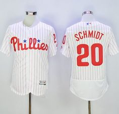171e2c3d1 Phillies  20 Mike Schmidt White(Red Strip) Flexbase Authentic Collection  Stitched MLB Jersey