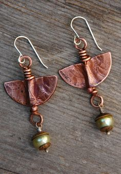 Textured Copper Earrings | von Cynthia Murray Design
