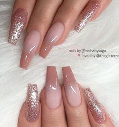REPOST – – – – Caramel ombre and glitter on long coffin nails – – – – Image at – Long Nail Designs Coffin Nails Long, Long Nails, Coffin Shape Nails, Ombre Nail Designs, Nail Art Designs, Nails Design, Ombre Nail Art, Coffin Nail Designs, Acrylic Nail Designs Glitter