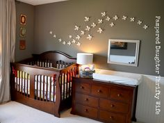 So, not squashed together but I like the idea of the crib and change table against the same wall. Then the other wall could have the twin bed and the chair could go in front of the window
