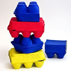 8 Creative Egg Carton Crafts: Egg-cellent Building Blocks (via Parents.com)... This is a inexpensive toy that could keep your child entertained for a long while!