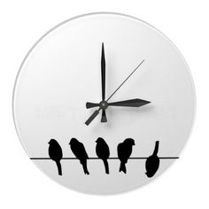 Shop Birds on a wire – dare to be different large clock created by inspirationzstore.