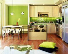 Cozinha e Sala de Almoço Verde Greenery