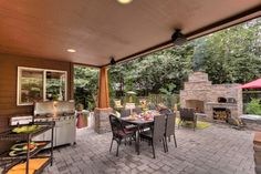 Cheap Backyard Landscaping Design Ideas, Pictures, Remodel, and Decor - page 9 - Would love to have this much of a covered patio.