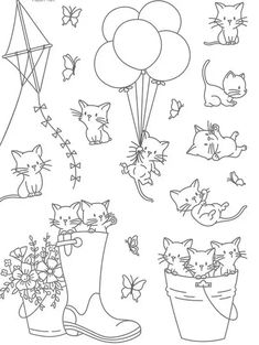 Cat Transparent Clear Silicone Stamp/Seal for DIY scrapbooking/photo album Decorative clear stamp Stamps from Home & Garden on AliExpress Animal Coloring Pages, Coloring Book Pages, Digital Stamps Free, Album Diy, Tampons Transparents, Cat Character, Muse Art, Floral Drawing, Cartoons