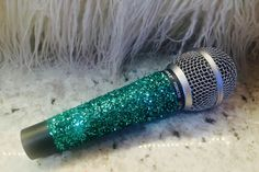 Taylor Swift Style Glitter Microphone - Turquoise