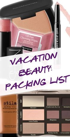 VACATION BEAUTY: PACKING LIST | Breaking down exactly what makeup you need to bring on your next vacation! #pampadour http://blog.pampadour.com/vacation-beauty-packing-list/