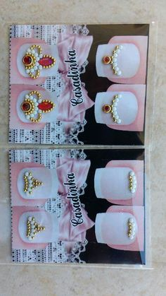 Minha Lily Nails, Nail Jewels, Rhinestone Art, Flower Nail Art, Diamond Design, Press On Nails, Nails Inspiration, Cute Nails, Finger