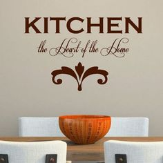 DecaltheWalls Kitchen the Heart of the Home' Wall Decal Color: Brown