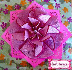 Teabag folding   Craft Maniacs: Tea Bag Folding 1: Zigzag with Circles....