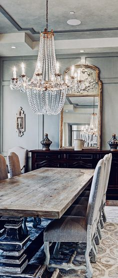 French Dining Room Crystal Chandelier