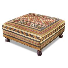 Kilim Oversized Ottoman Cocktail Table