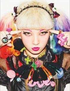 Harajuku hair colours and street fashion in Japan