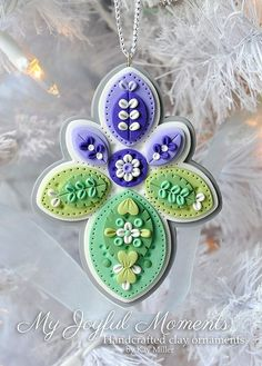 Handcrafted Polymer Clay Ornament by Kay Miller on Etsy by Lisa.Rentschler.Gatz