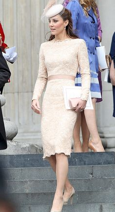 Elegant Kate Middleton Lace Dress 2012 Don't have anywhere to wear this, but it is pretty.