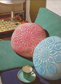 Cojín y Tapete a Crochet o Ganchillo
